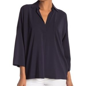 "Vince ""Oversized Long-Sleeve Blouse"""